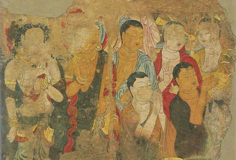Монахи и бодхисаттвы, слушающие проповедь Будды. X в.