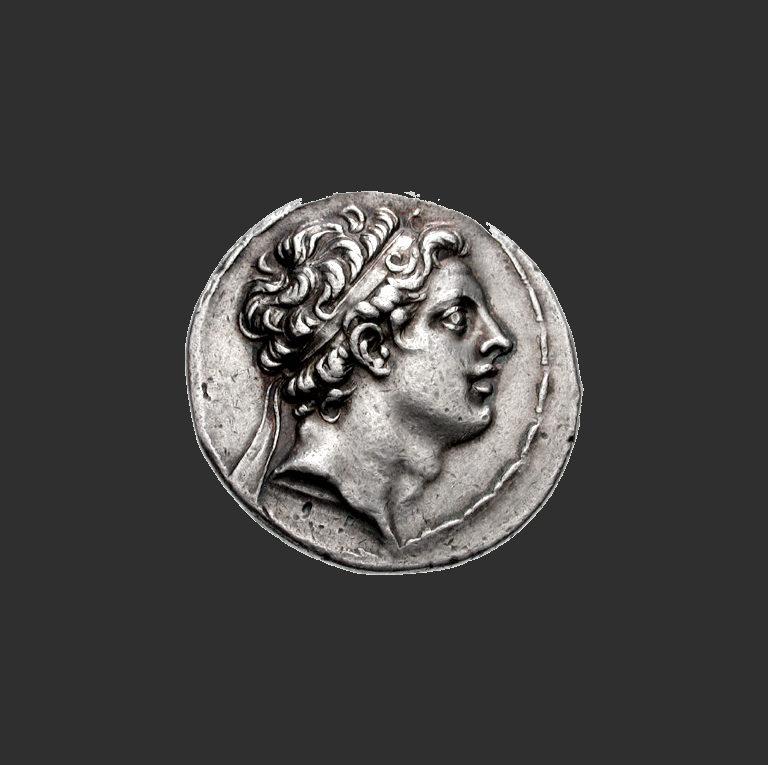 Монета Антиоха IV Эпифана (ок. 215 до .э. — 164 до н.э.)