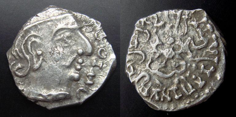 Монета с изображением Чандрагупты II (IV–V вв.)