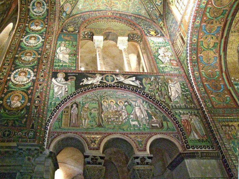 Мозаики северной стены