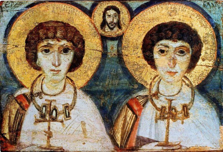 Мученики Сергий и Вакх. VI в.