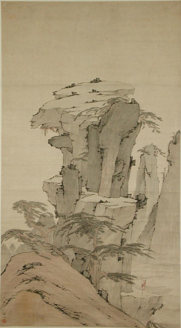 Мудрец, созерцающий скалу. Китай, XX в.