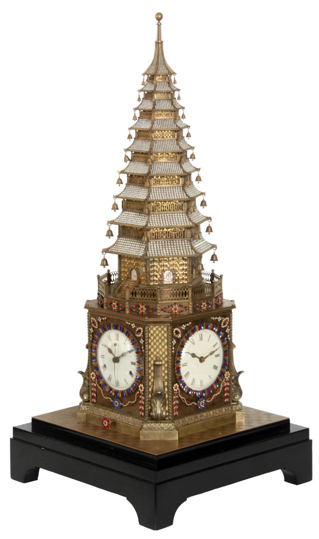 Музыкальные часы в форме пагоды. Англия, XVIII в.