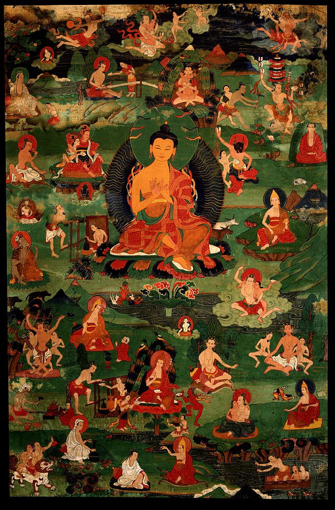 Нагарджуна с 30 из 84 махасиддх. Тибет, XVIII в.