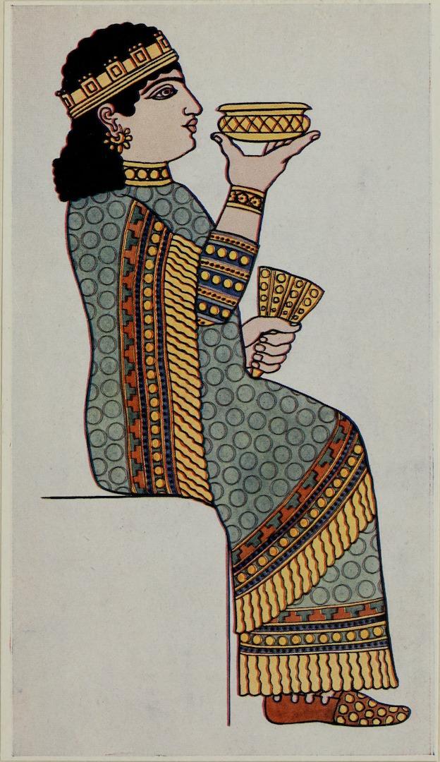 Наряд ассирийской женщины