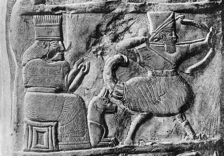 Навуходоносор I («Набу храни границы», ум. в 1104 г. до н.э.) и бог Мардук