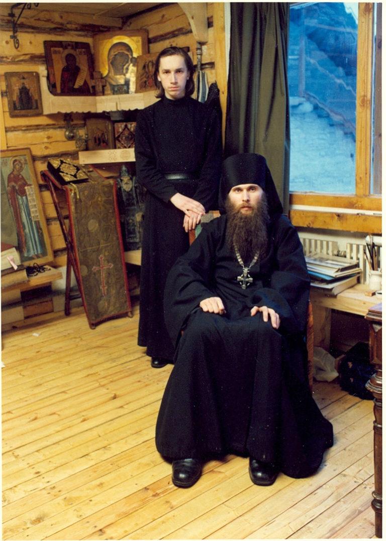 О. Зинон (род. в 1953) в Псково-Печерском монастыре