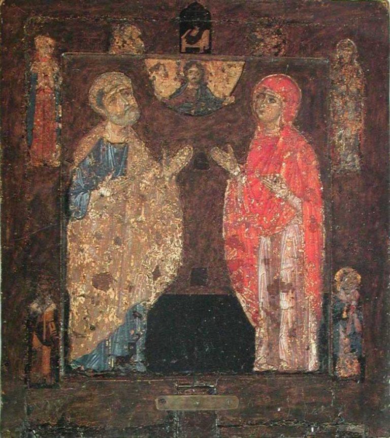 Оборотная сторона иконы Знамение. Первая треть XII в.