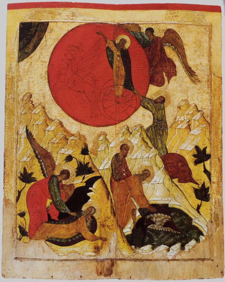 Огненное восхождение пророка Илии. XVI в.