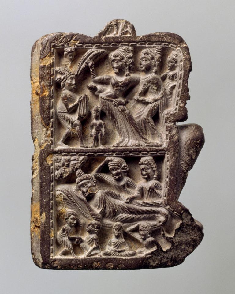 Паринирвана Будды. Панель храма. Пакистан, V–VI вв.