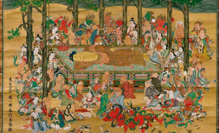 Паринирвана Будды. XIV в.