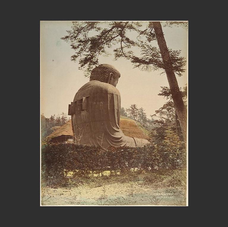 Пейзаж со скульптурой Будды. 1870