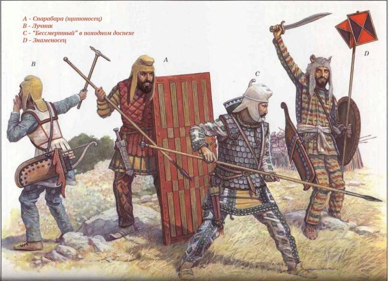 Персидские пехотинцы V в. до н.э.