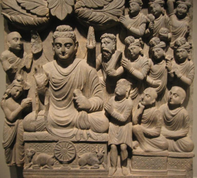 Первая проповедь Будды в Сарнатхе. Конец III в. Афганистан