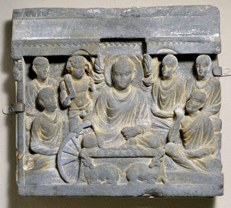 Первая проповедь Будды. II в.
