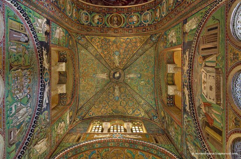 Плафон базилики Сан-Витале. VI в. Равенна