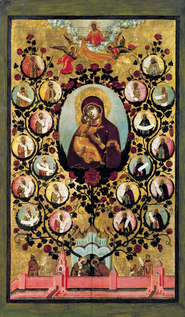 Похвала Владимирской иконе – Древо государства Российского. 1668