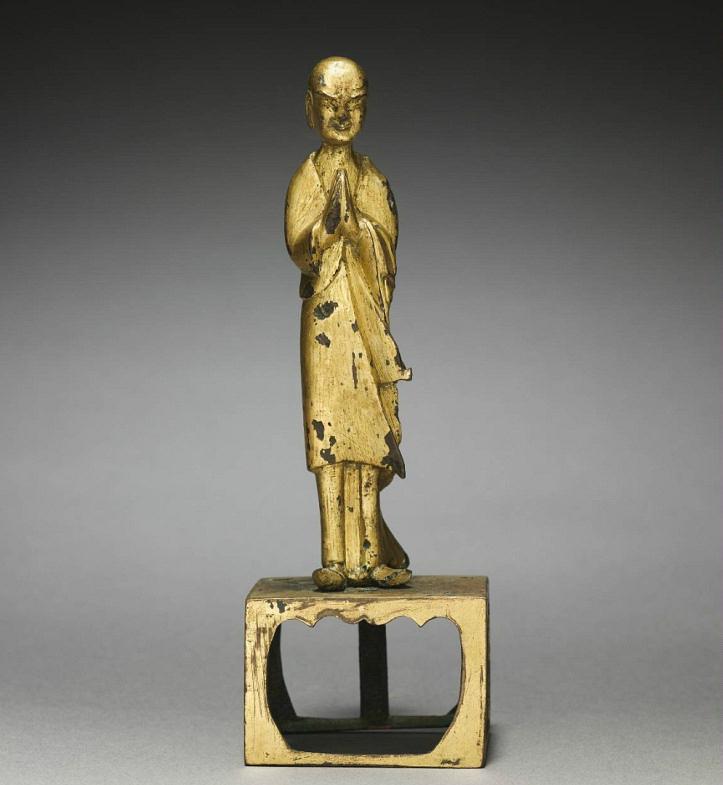 Поклонение монаха. Начало VI в. Китай