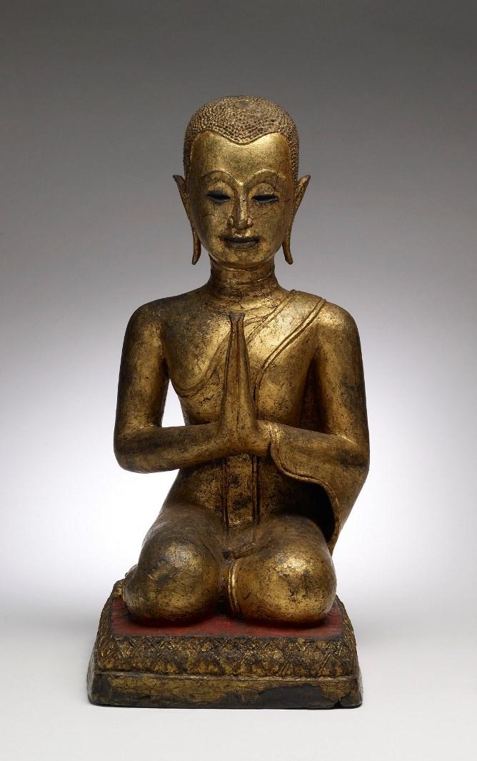 Поклонение монаха. Таиланд, XIX в.