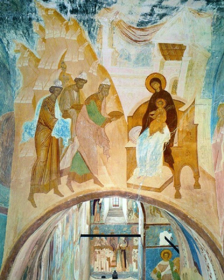 Поклонение волхвов. Фреска. 1502