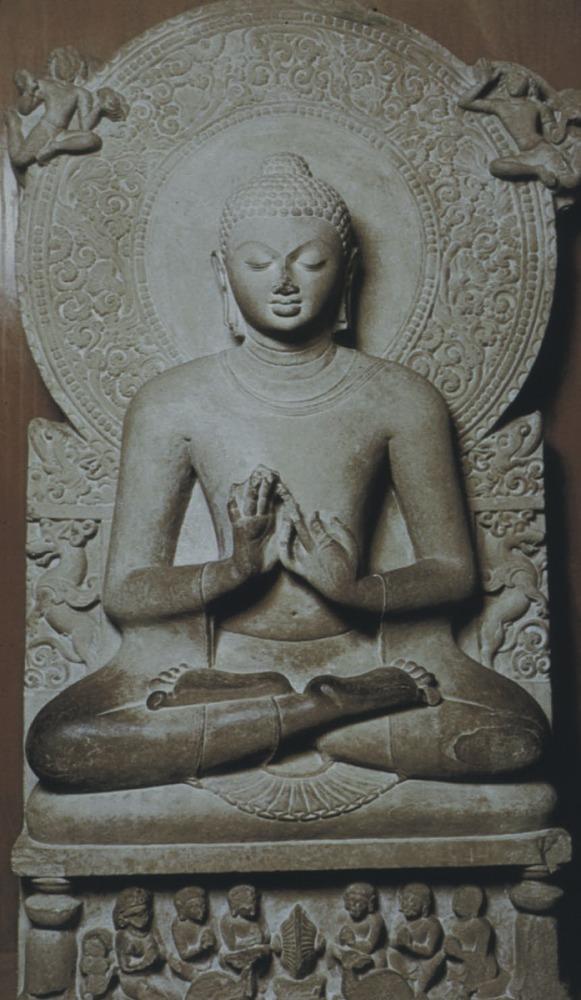 Проповедующий Будда. V в. Сарнатх, Индия