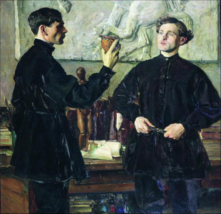 Портрет художников П.Д. и А.Д. Кориных. 1930