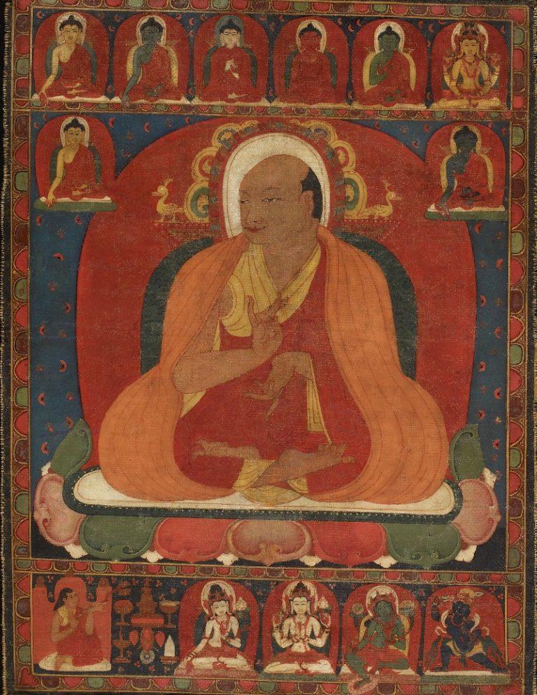 Портрет тибетского монаха. Тибет, XII в.