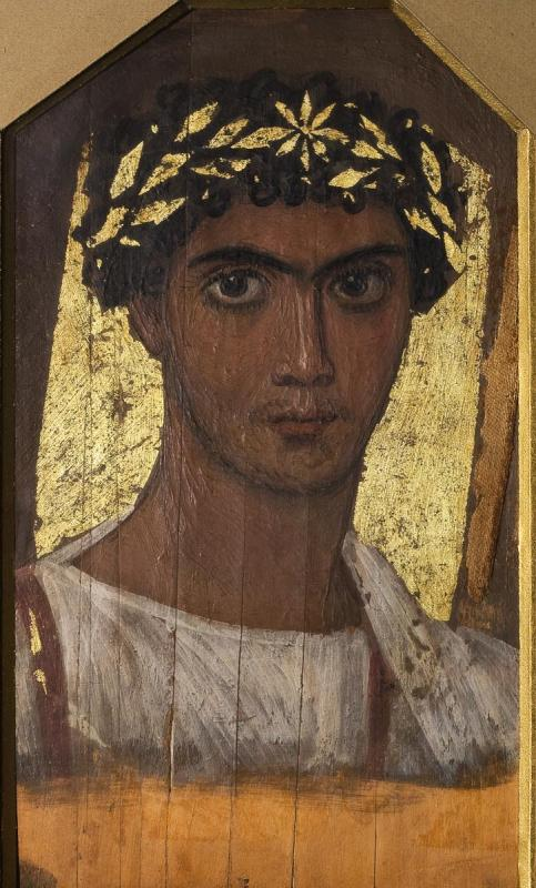 Портрет юноши в золотом венке. Первая половина II в.