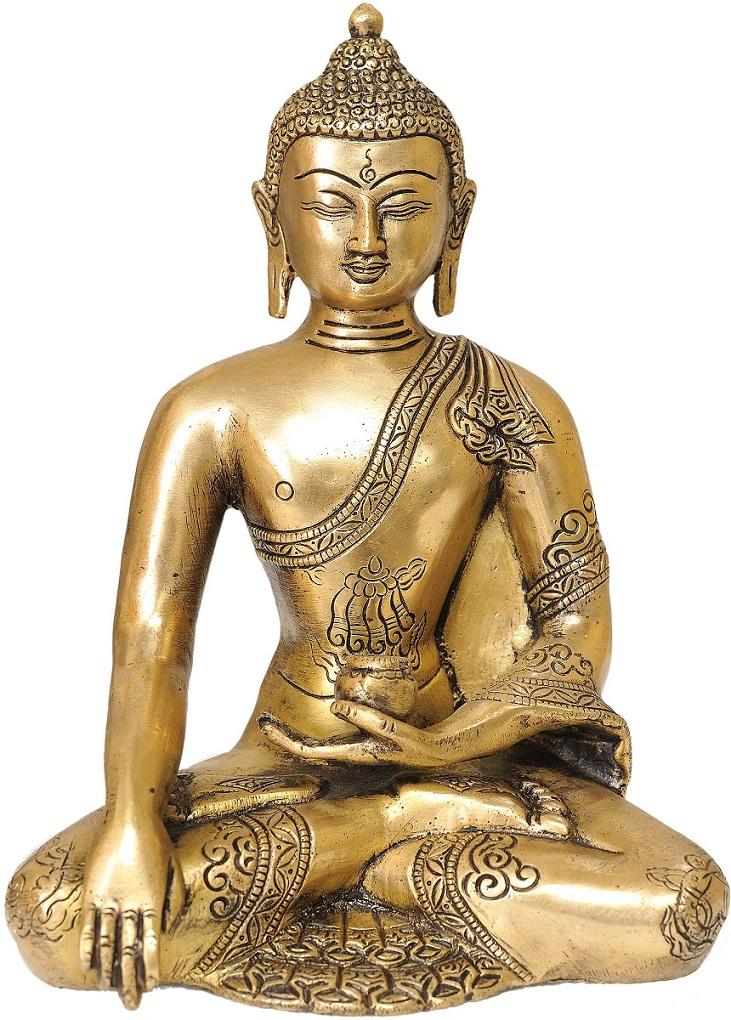 Правая рука Будды в жесте Спарша – прикосновение к Земле