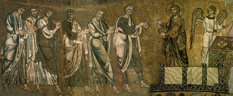 Причащение апостолов. Начало XII в.