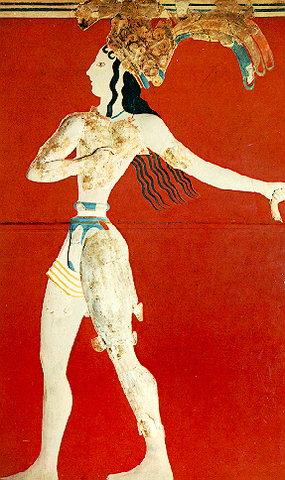 Принц с лилиями (Царь-жрец). Около 1550 г. до н.э.