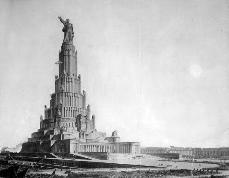 Проект Дворца Советов на месте Храма Христа Спасителя