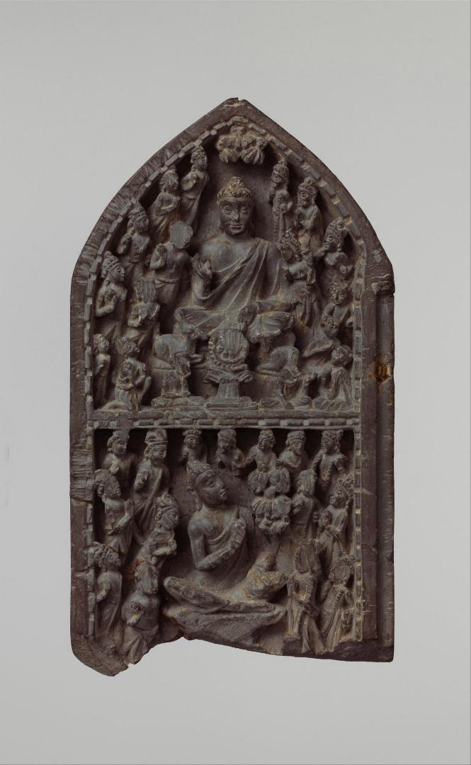 Проповедь Будды. Панель храма. Пакистан, V–VI вв.