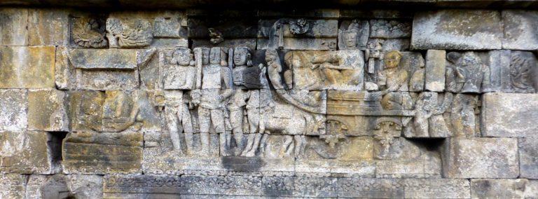 Процессия Будды встречает носилки с телом покойника (слева). VII—IX вв.