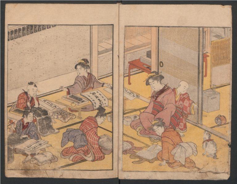 Процветание семьи. Япония, XVIII в.