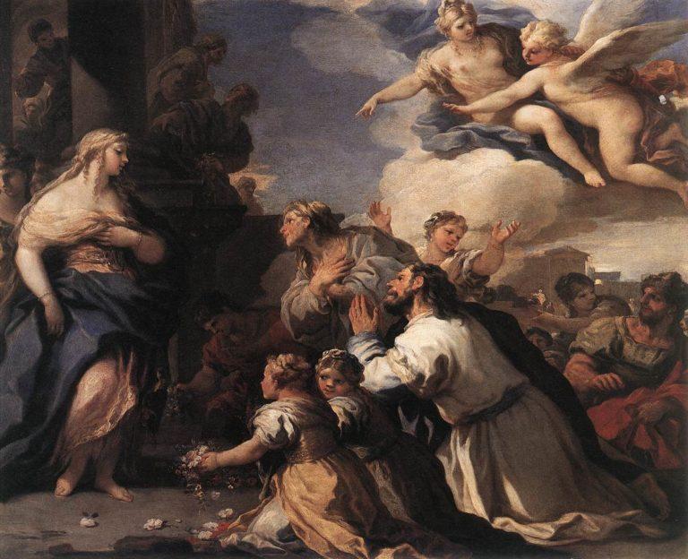 Психея принимает поклонение от людей. 1692-1702