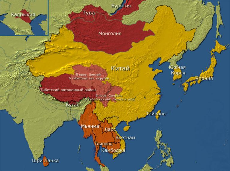 Распространение тхеравады, махаяны и ваджраяны в Юго-Восточной Азии