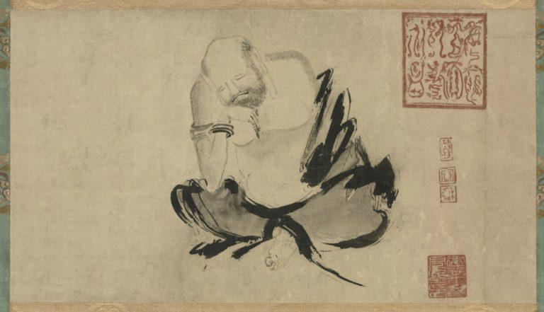 Размышляющий Хуэйкэ, второй патриарх чань-буддизма. Китай, X в.