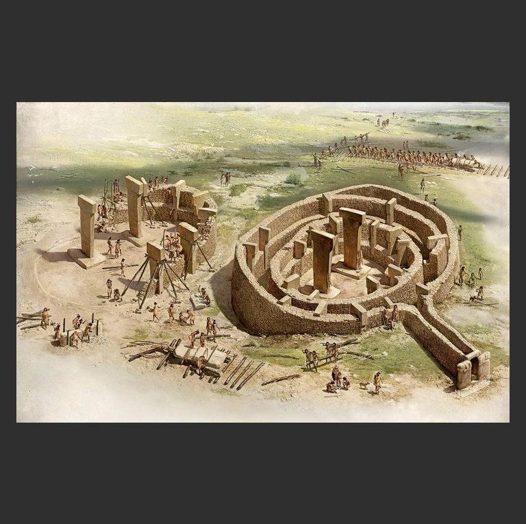 Реконструкция Гёбекли-Тепе. IX тысячелетие до н.э.
