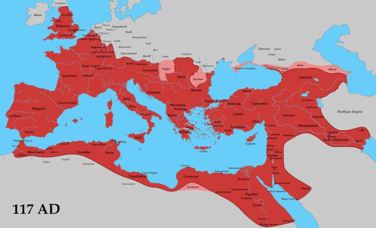 Римская империя в 117 г.