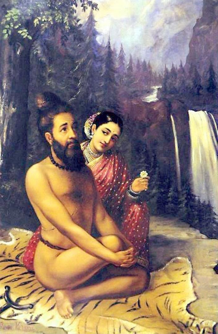 Риши Вишвамитра.  Ведийский мудрец, один из семи великих риши
