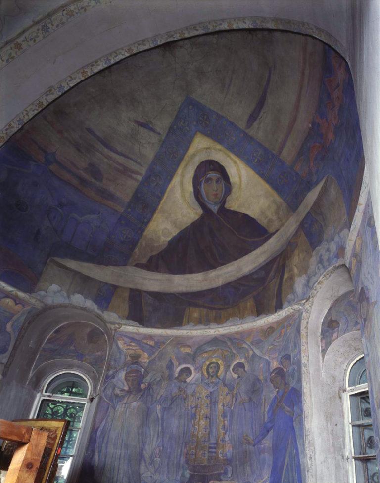 Роспись алтаря Покровского собора Марфо-Мариинской обители. 1910-е