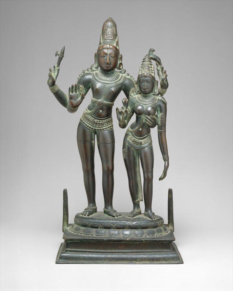 Шива обнимает свою супругу Уму. Индия, XI в.
