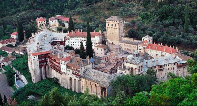 Сербский монастырь Хиландар, г. Афон