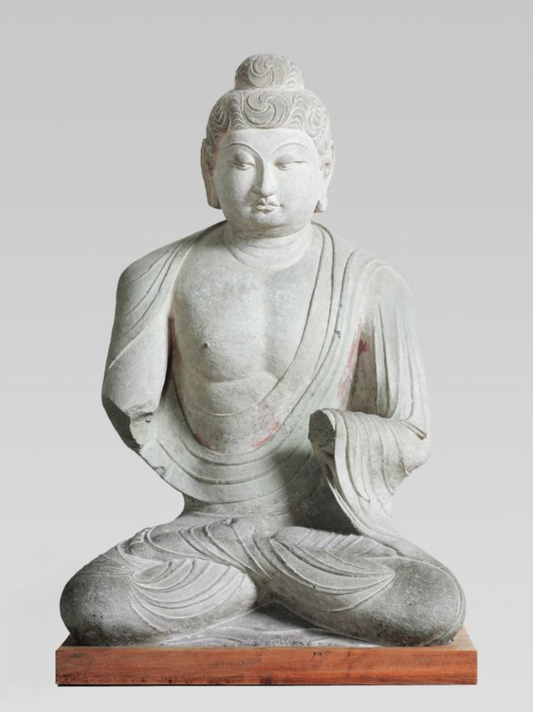 Сидящий Будда. Китай, VIII в.
