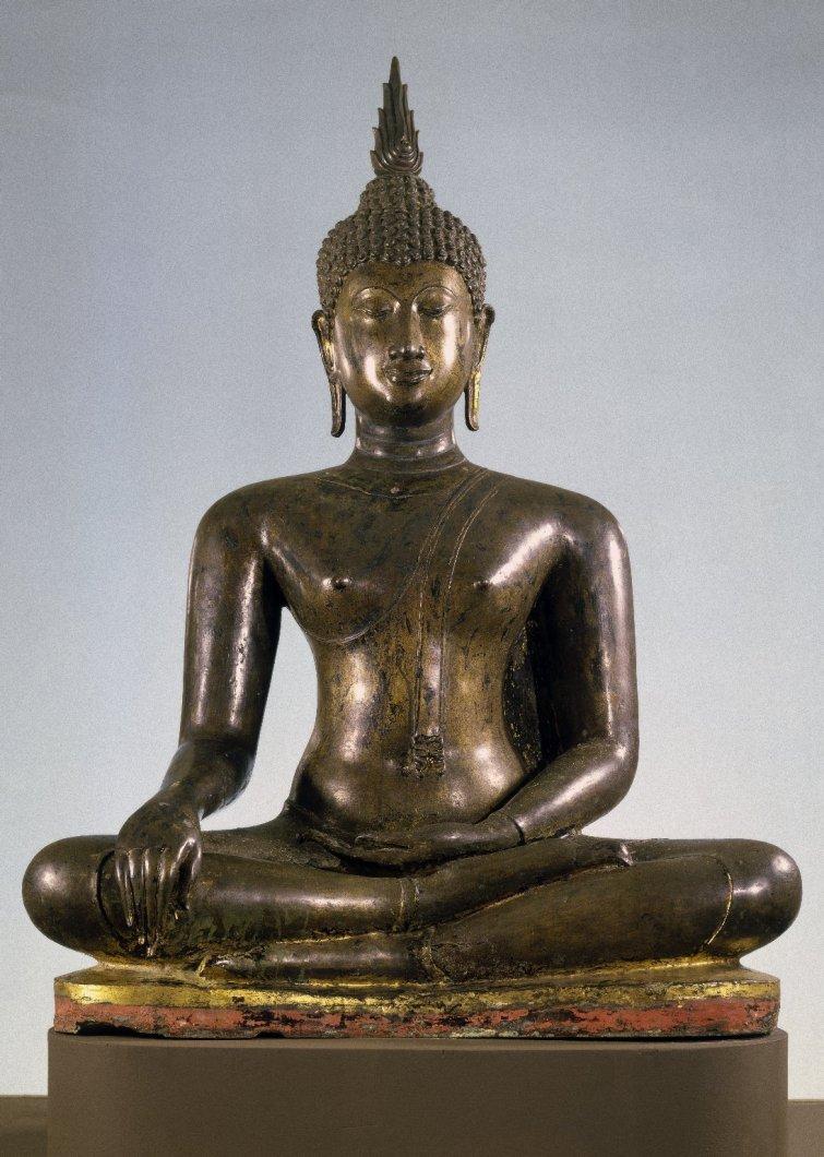 Сидящий Будда. Таиланд, XIV в.