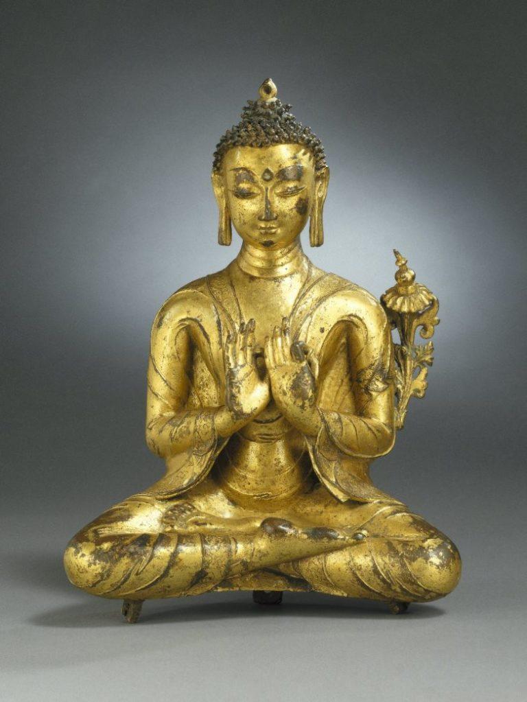 Сидящий Майтрея. Тибет, XIII–XIV вв.