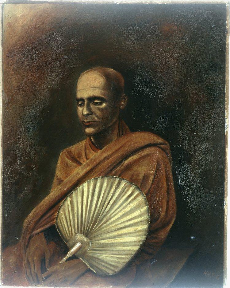 Сидящий буддийский монах. Шри-Ланка, 1874–1889
