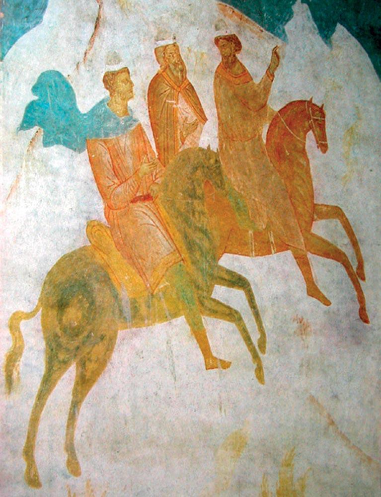 Скачущие волхвы. Фреска. 1502.