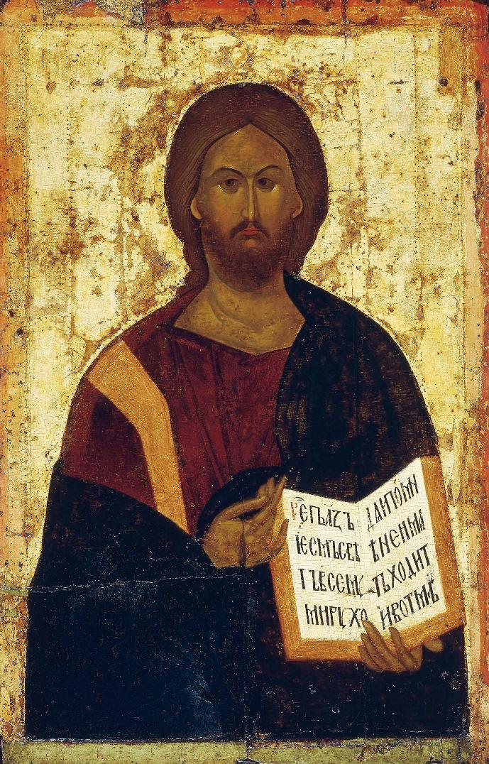 Спас. Высоцкий чин. XIV в. Византийская икона